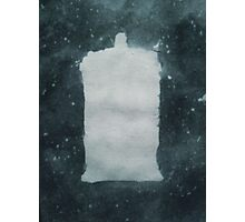TARDIS Silhouette in Space Photographic Print
