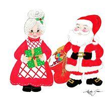 Mr. and Mrs. Santa Claus by Linda Ginn Art
