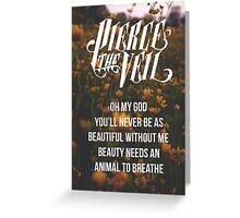 Pierce the Veil Poster Greeting Card
