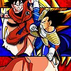 Goku Vs Vegeta by WCPerryAndrez