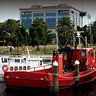 Little red tug Boat by Chris Chalk