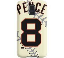Hunter Pence Baseball Design Samsung Galaxy Case/Skin