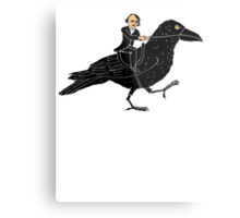 Edgar Allan Poe and Raven Metal Print