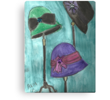 Cloche Hat Trio Canvas Print