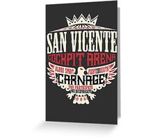 San Vicente Cockpit Arena Greeting Card