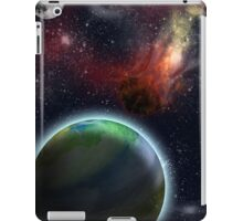 Flaming Asteroid in Space iPad Case/Skin