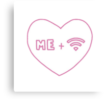 me and wifi Canvas Print