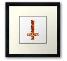 pizza cross Framed Print