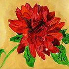 Fire Orange Dalhia by Anne Gitto