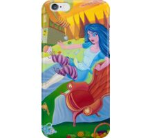 A mad tea-party - Alice and the Jumping Couch (Phone & Tablet Cases - Laptop Skins) iPhone Case/Skin