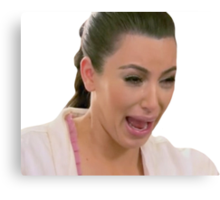 sad kim k pt. 2 Canvas Print