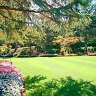 Summertime, the Butchart Gardens, Vancouver Island, BC, Canada by Priscilla Turner