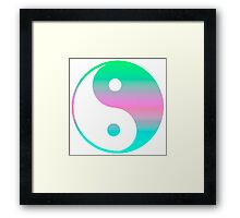 Digi Yin Yang  Framed Print