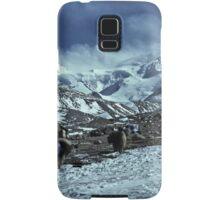 yaks on the way to Shishapangma, Tibet Samsung Galaxy Case/Skin