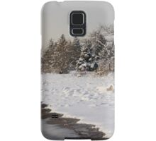 The Snow Just Stopped - a Winter Beach on Lake Ontario Samsung Galaxy Case/Skin