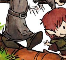 Gandalf and Bilbo Calvin and Hobbes Sticker