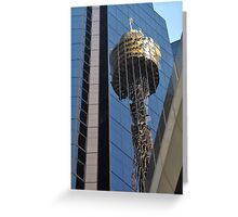 Centrepoint Tower Reflection, Sydney, Australia 2013 Greeting Card