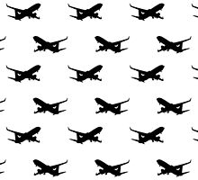 Airliner silhouette wallpaper by stuwdamdorp