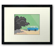Dharma Van vs Smoke Monster Framed Print