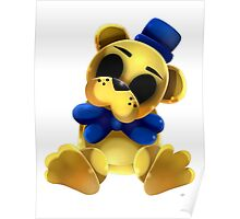 Chibi Golden Freddy Bear Poster