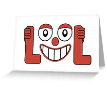 Laughing Out Loud Illustration Greeting Card