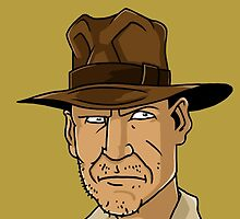 Indiana Jones Cartoon by Colin De Koning