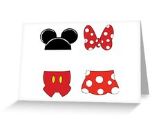 Mickey and Minnie Icons Greeting Card