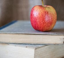 Apple On Books 1 by Margaret Chilinski