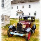 Ford Model A Watercolor by Edward Fielding