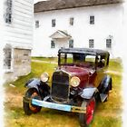 Ford Model A Watercolor by Edward Fielding