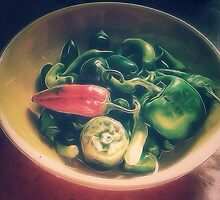 Still life with hot peppers by Shellibean1162