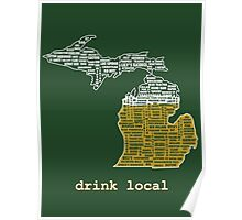 Drink Local (MI) Poster