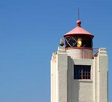 Port Hueneme Light Tower by Henrik Lehnerer