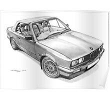 BMW E30 325i Cabriolet (1990) Poster