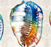 Colorful Seashell Art - Beach Trio - By Sharon Cummings Sticker