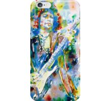 BOB DYLAN playing the GUITAR - watercolor portrait.3 iPhone Case/Skin