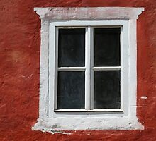 Red and White Window by BrookeRyanPhoto