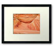 Walking through the Wave Framed Print