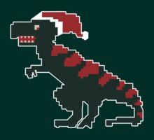 Christmas Dinosaur Santa Claus by lucusfocus