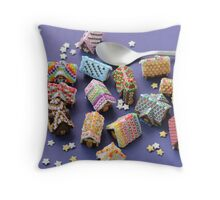A Spoon of Gingerbread Houses Throw Pillow