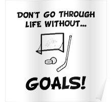 Hockey Goals Poster