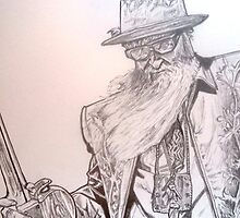 Billy Gibbons, ZZ top drawing by RobCrandall