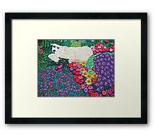 lush lamb / hidden serpent = peace  (©k.denmark) Framed Print
