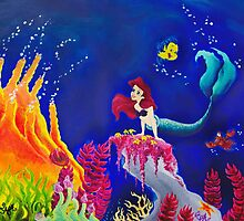 The Little Mermaid Painting by Ryan Rydalch