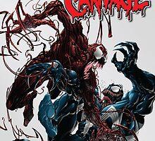 Venom vs Carnage  by Sickcrazyfool