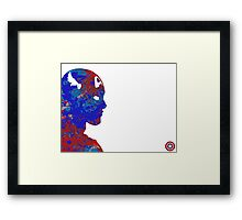 "A Splash of Heroism: ""Captain America"" Framed Print"