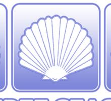 The Three Seashells Sticker