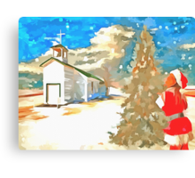 Christmas In The Country Canvas Print