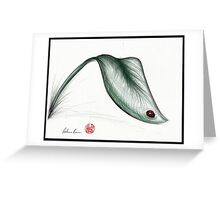 """Leaf Me Alone"" - Ladybug drawing Greeting Card"