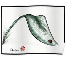"""Leaf Me Alone"" - Ladybug drawing Poster"